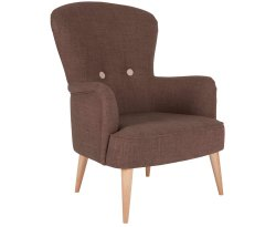 Oslo Mocha Wool Fabric Fireside Chair
