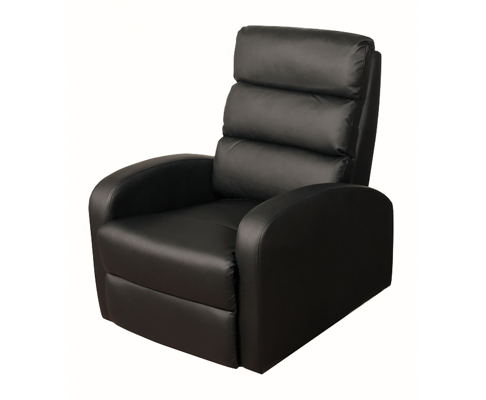 justarmchairs.co.uk Vanessa Black Faux Leather Recliner
