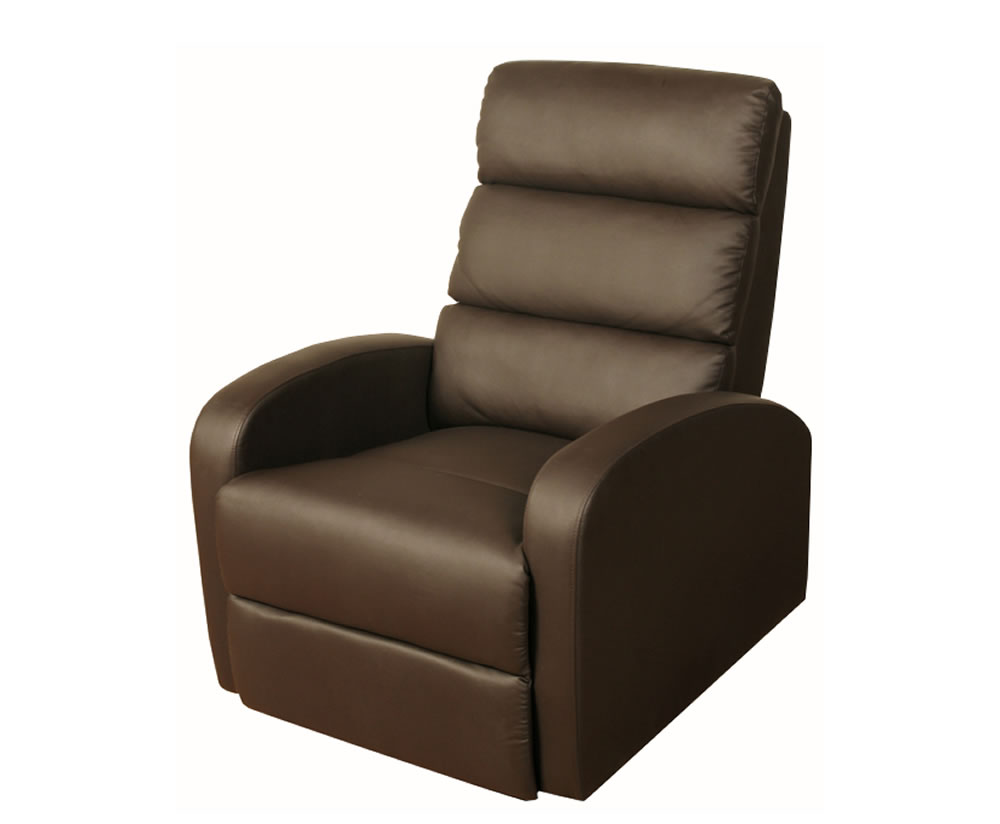 justarmchairs.co.uk Vanessa Brown Faux Leather Recliner
