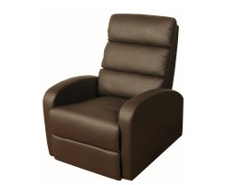 Vanessa Brown Faux Leather Recliner