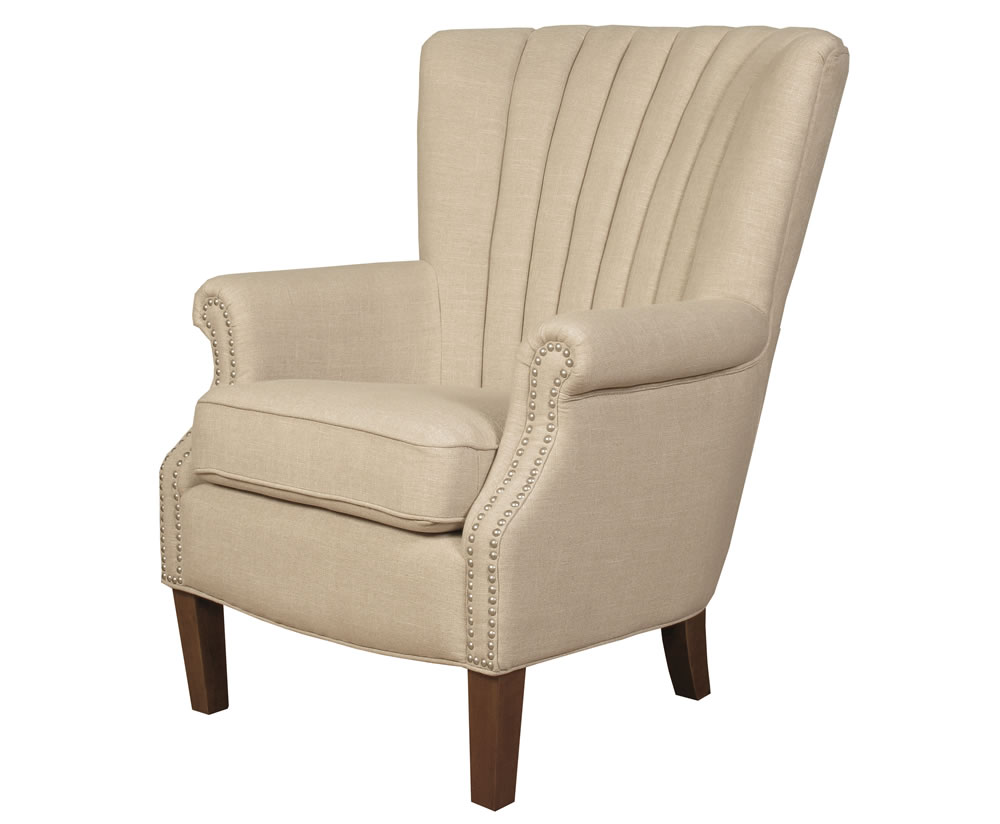 Faringford Beige Fabric Fireside Armchair