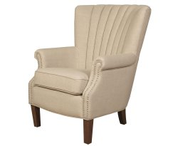 Faringford Beige Fabric Fireside Chair