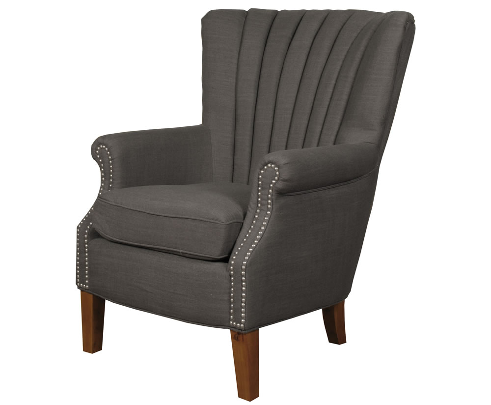 Faringford Charcoal Fabric Fireside Armchair