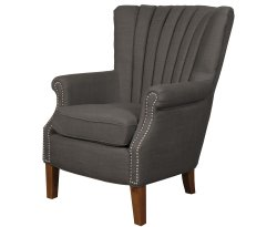 Faringford Charcoal Fabric Fireside Chair