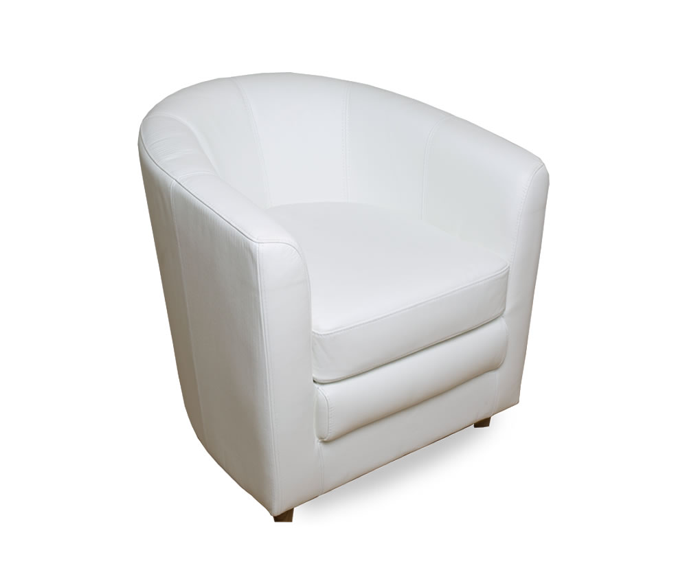 Slater Genuine Leather Tub Chair