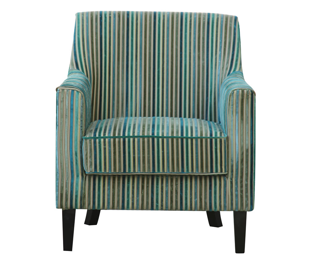 Wooden Arm Chairs In Teal ~ Golding teal striped fabric arm chair