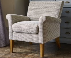 Warrenpoint Barley Weave Upholstered Armchair