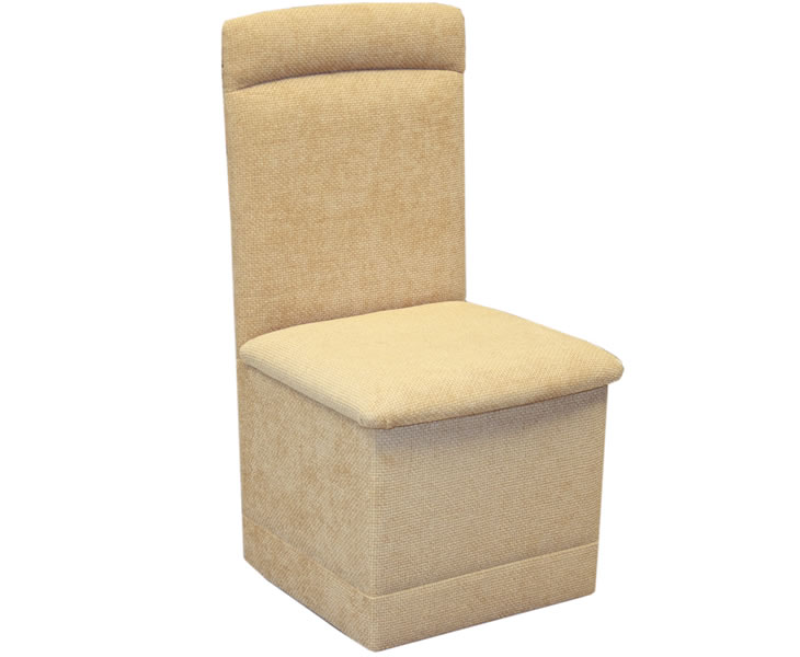 justarmchairs.co.uk Pamela Fabric Storage Bedroom Chair without storage hopsack - sand 1202