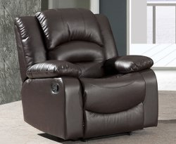 Izak Brown Bonded Leather Manual Recliner