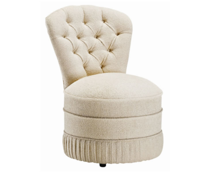 Chairs Roma Fabric Upholstered Bedroom Chair ari beige