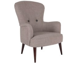 Oslo Pebble Wool Fabric Fireside Chair