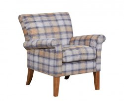 Warrenpoint Cornflower Upholstered Armchair