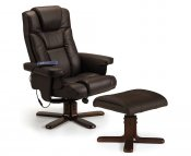 Malmo Faux Leather Massage Recliner Chair with Footstool