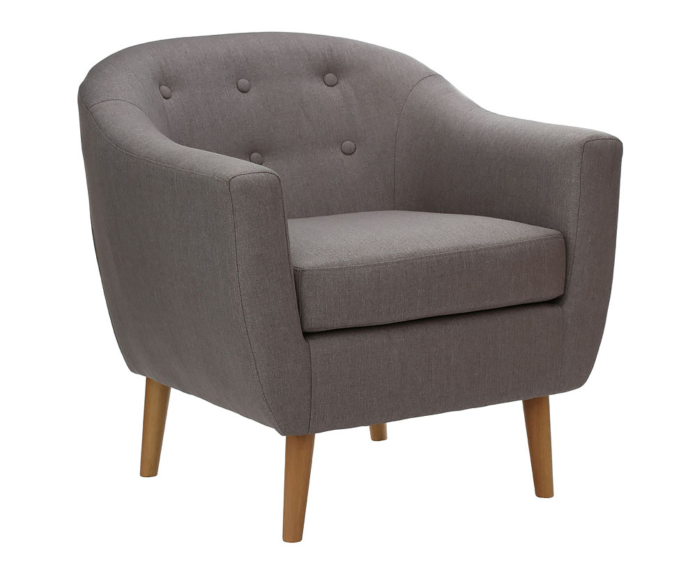 justarmchairs.co.uk Achilles Grey Linen Occasional Chair