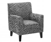 Monika Grey Animal Print Occasional Chair