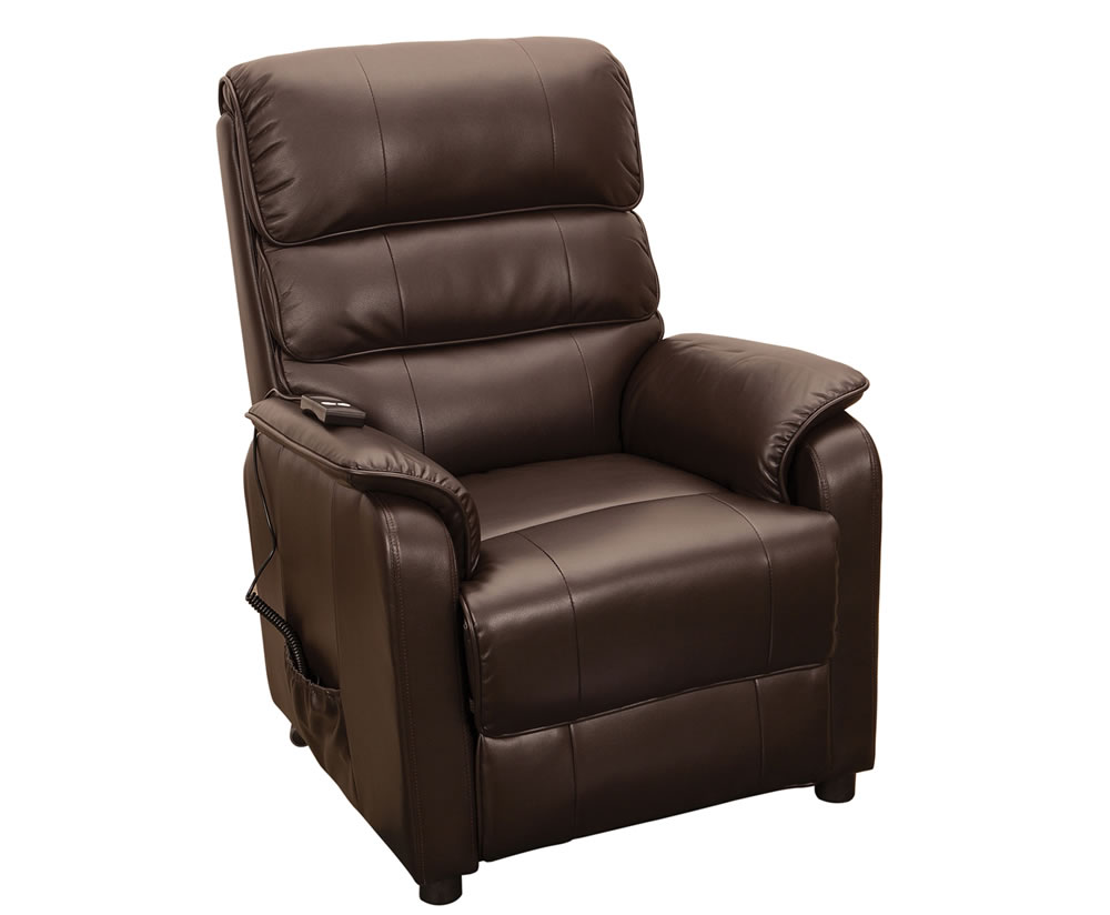 Stratton Brown Bonded Leather Electric Recliner