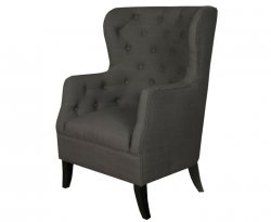 Hayward Charcoal Fabric Fireside Armchair