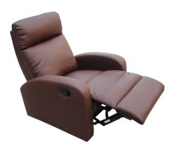 Orkney Brown Faux Leather Recliner Chair