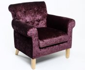 Steeler Grape Crushed Velvet Upholstered Club Chair