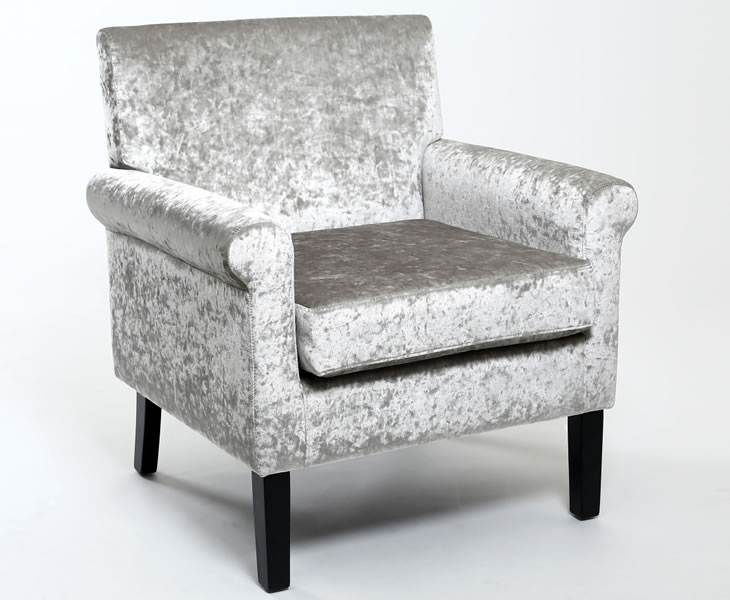 crushed velvet chair cavell silver crushed velvet occasional chair 13638 | 1667 1