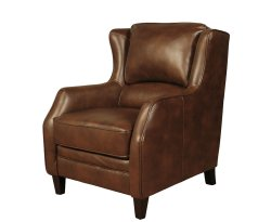 Conway Tan Faux Leather Fireside Armchair