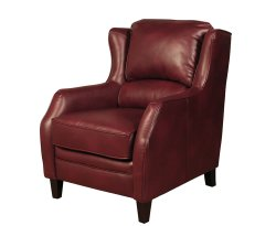 Conway Burgundy Faux Leather Fireside Armchair