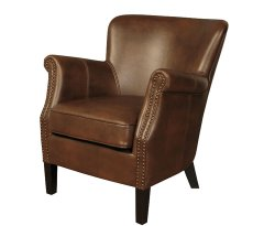 Stortford Tan Faux Leather Armchair