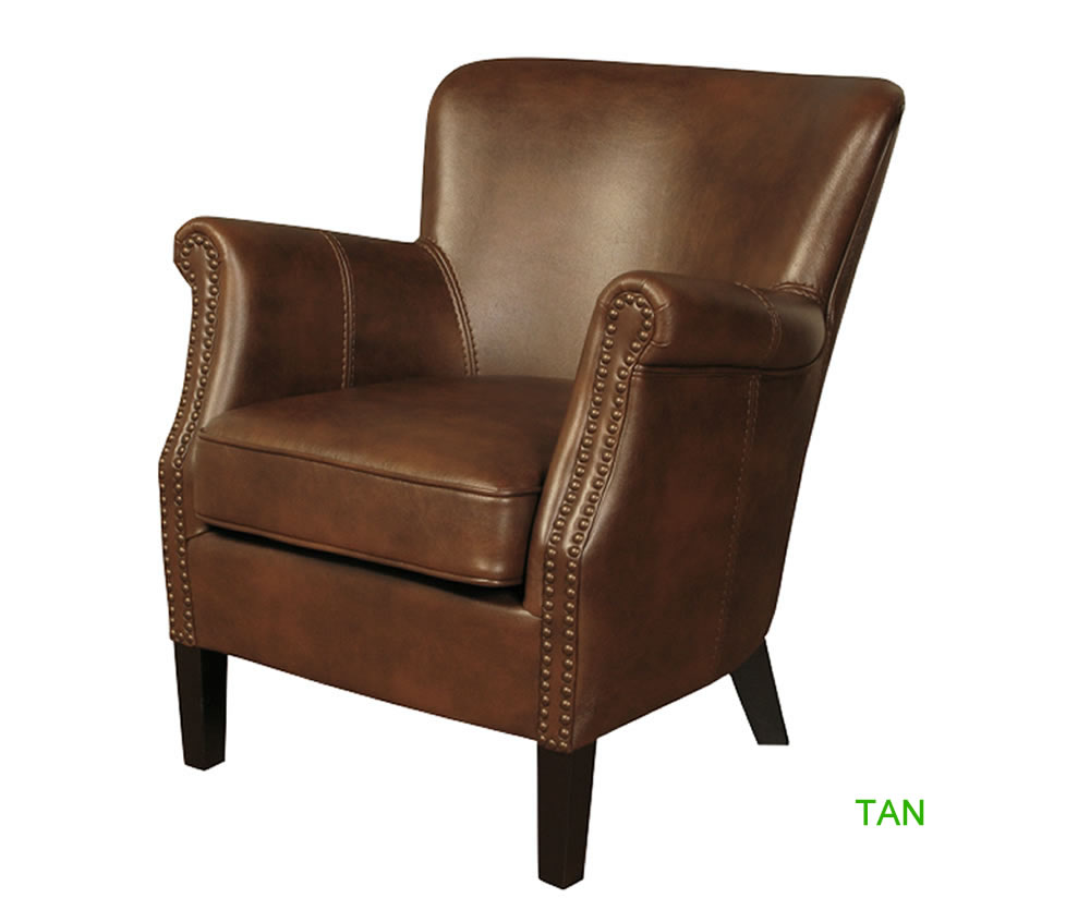 Stortford Faux Leather Armchair - Just Armchairs