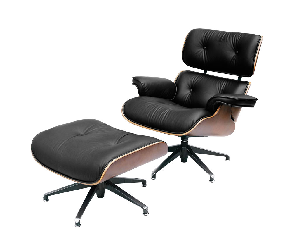 Burton Black Leather Swivel Recliner Chair Special Offer