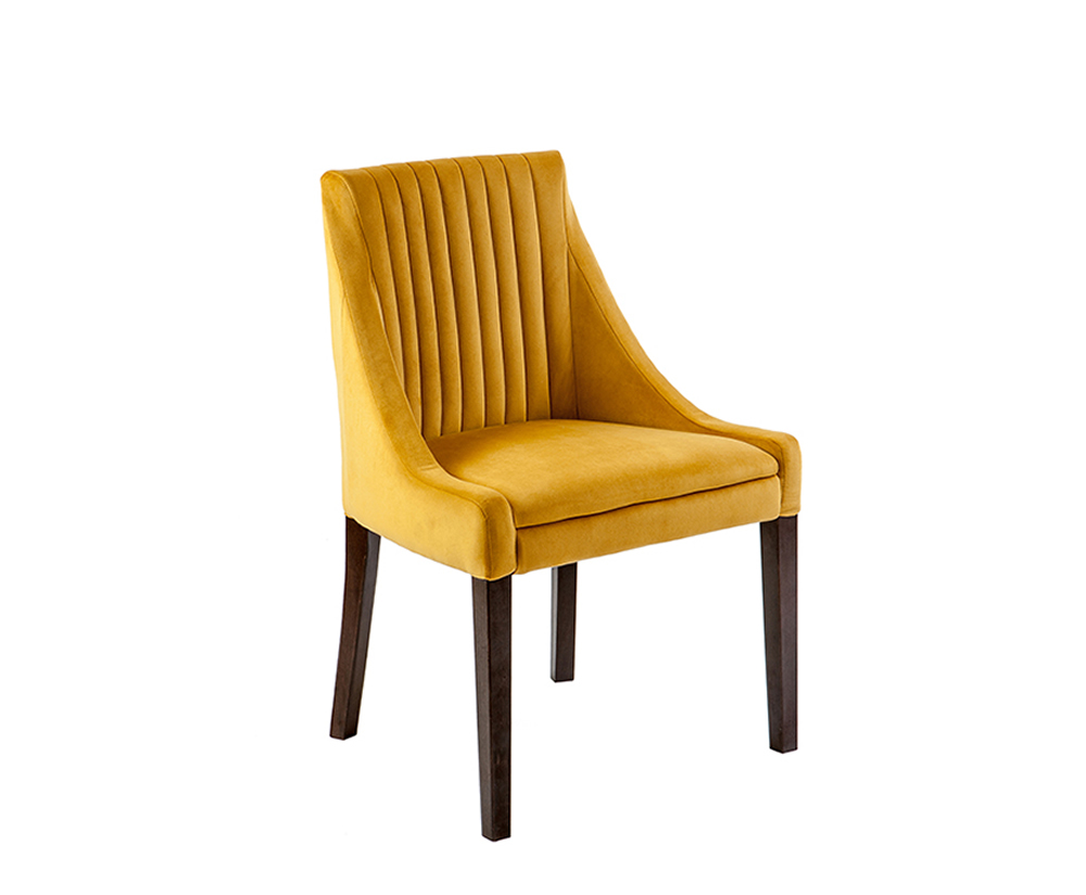 Bologna Pleat Plush Velvet Bedroom Chair
