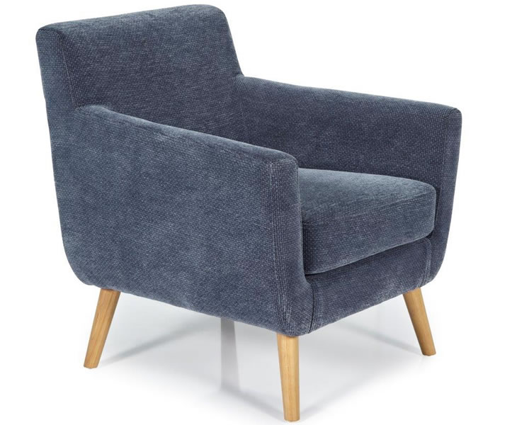 Roxy Blue Fabric Accent Chair Just Armchairs