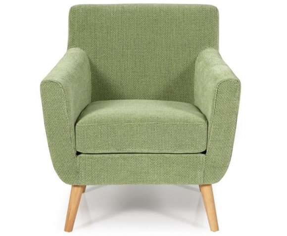 roxy green fabric accent chair just armchairs. Black Bedroom Furniture Sets. Home Design Ideas