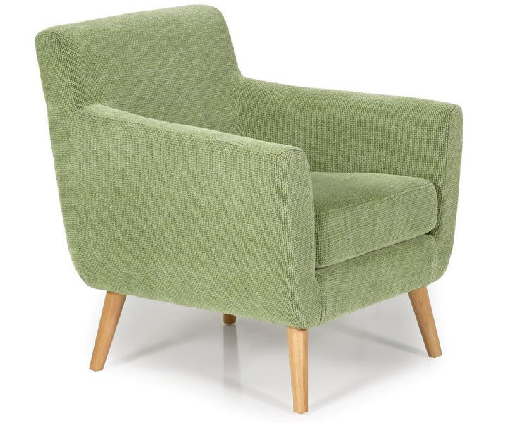 Roxy Green Fabric Accent Chair Just Armchairs