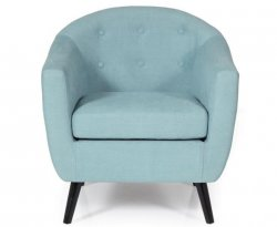 Sydney Duck Egg Blue Upholstered Tub Chair