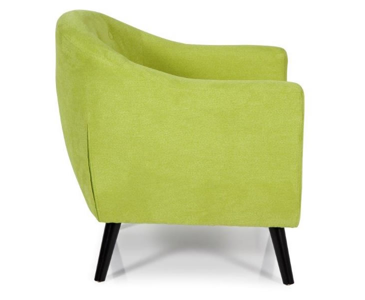 Sydney Green Upholstered Tub Chair Just Armchairs