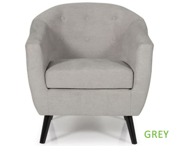 Sydney Mink Upholstered Tub Chair Just Armchairs