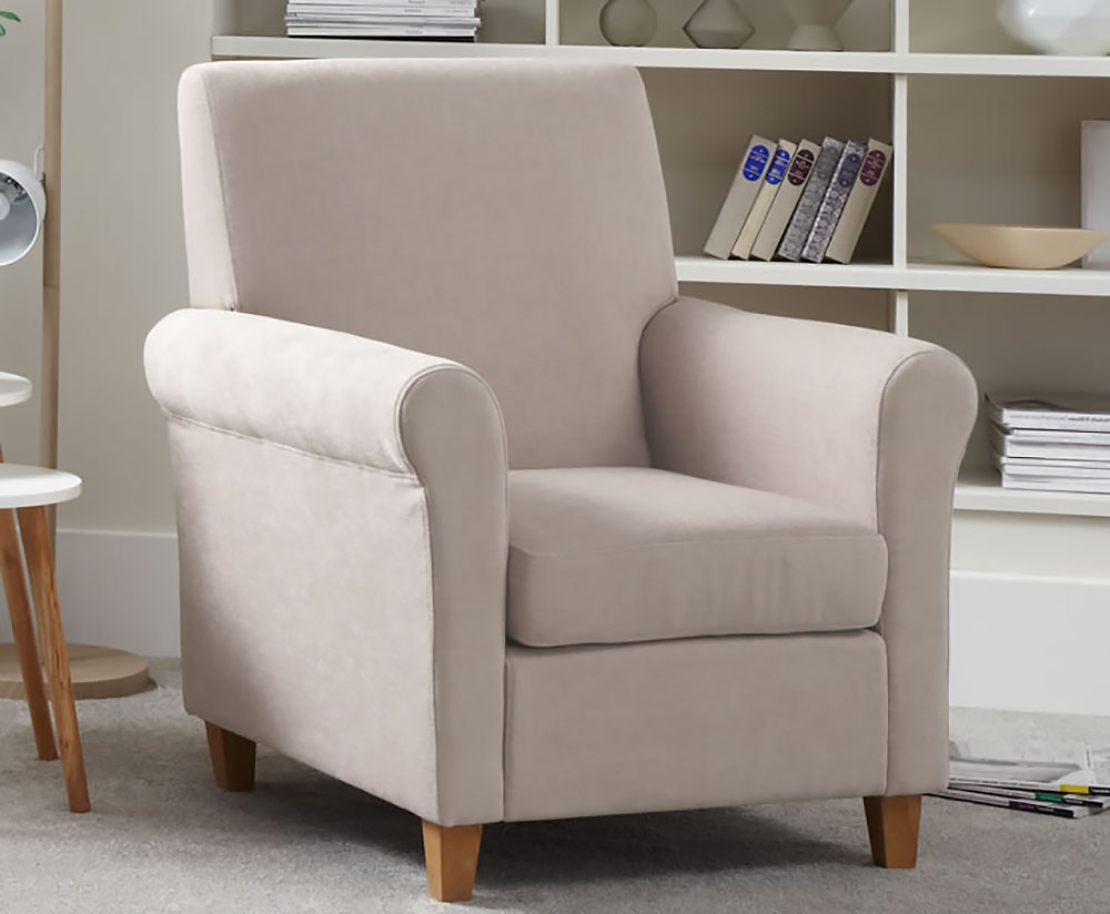 Armchairs Corrigal Mink Fabric Occasional Chair