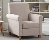 Corrigal Mink Fabric Occasional Chair