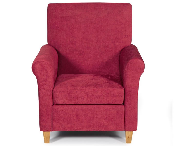 Armchairs Corrigal Red Fabric Occasional Chair