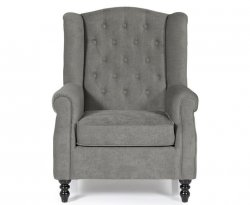 Kinross Grey Fabric Fireside Chair