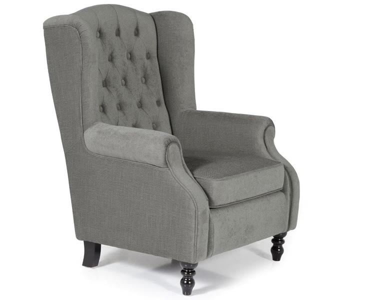 Kinross Grey Fabric Fireside Arm Chair Just Armchairs