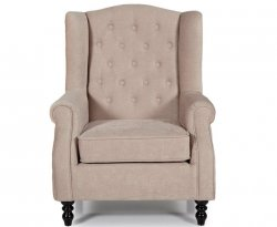 Kinross Mink Fabric Fireside Chair