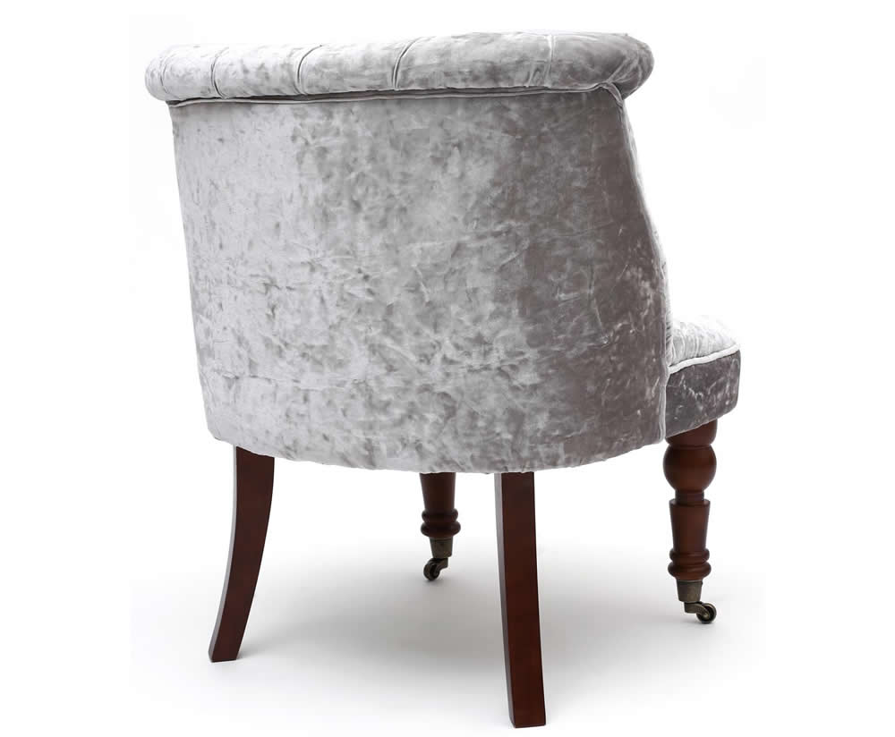 Silver bedroom chair