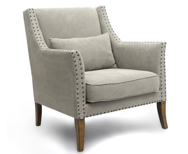 justarmchairs.co.uk Elias Natural Linen Occasional Chair