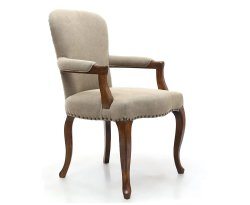 Archer Natural Linen Bedroom Chair