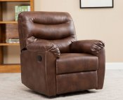 Bridford Bronze Brown Faux Leather Manual Recliner