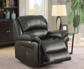 Weydon Black Leather Look Manual Recliner