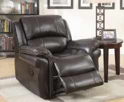 Weydon Brown Leather Look Manual Recliner