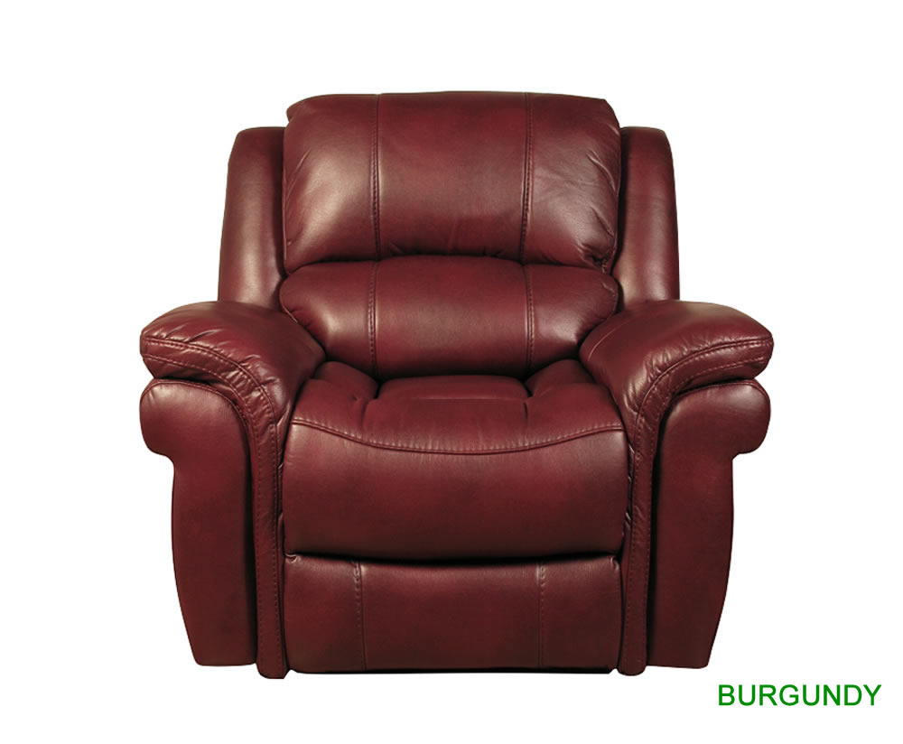 Weydon Leather Look Manual Recliner - Just Armchairs