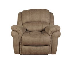 Weydon Taupe Leather Look Manual Recliner